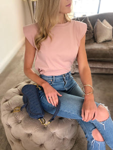 The Darcy Tee in Blush