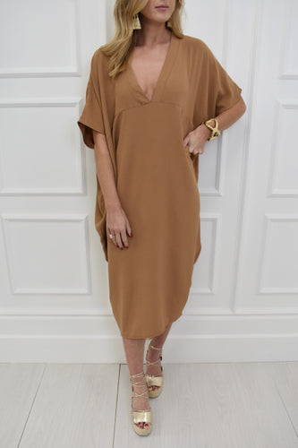 The Maddie Dress in Camel