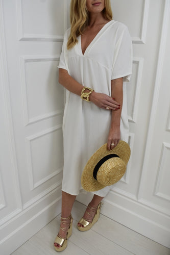 The Maddie Dress in White