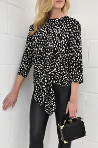 The Rae Shirt in Animal Print