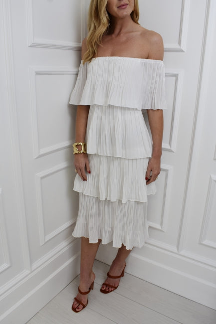 The Abbie Bardot Dress in White