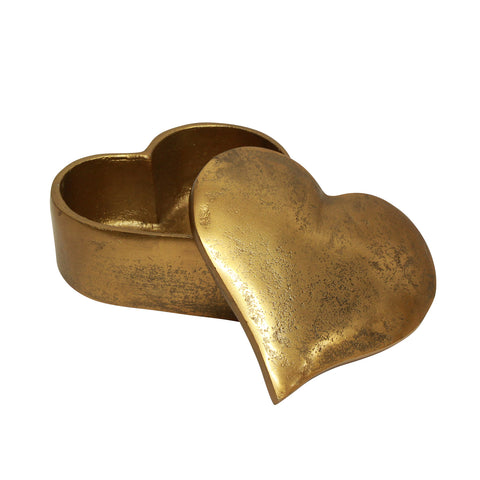 Heart box gold