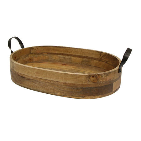 Ploughmans Oval Serving Tray Iron Handles