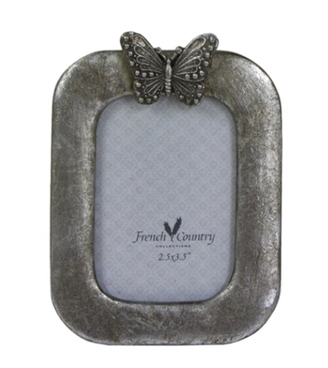 French Country Butterfly Photoframe Vertical 2.5x3.5""