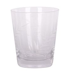 LEAF CUT SHORT TUMBLER GLASS