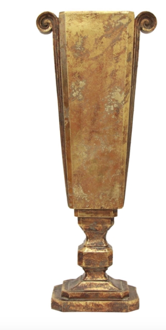 French Country Scroll Narrow Urn Medium