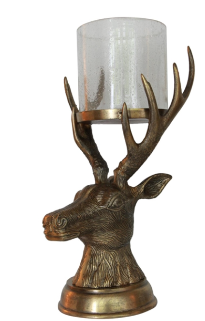 French Country Reindeer Hurricane Large