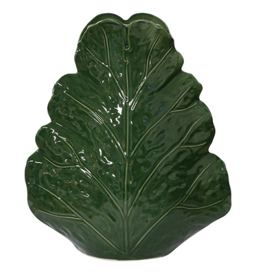 LARGE SCULPTURED LEAF VASE