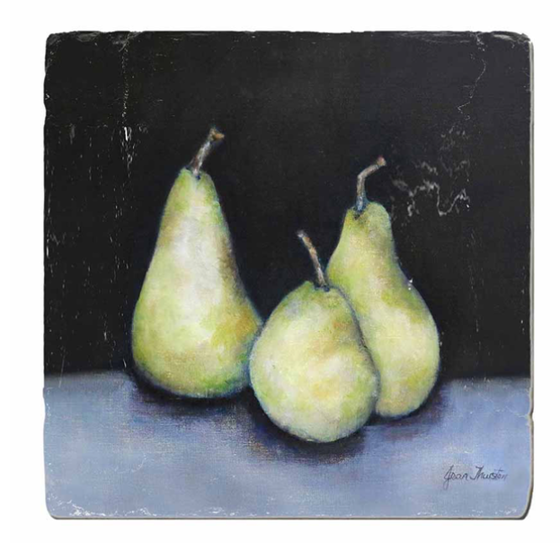 MIDNIGHT PEARS COASTER SET X 4 PIECES