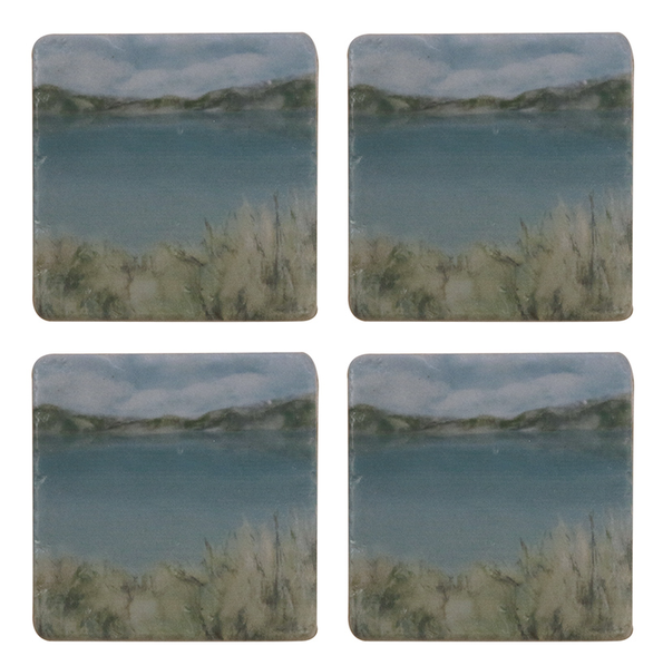 ISLAND SUMMER COASTER SET x 4 PIECES