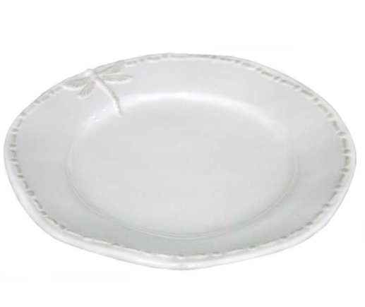 White dragonfily side plate ceramic