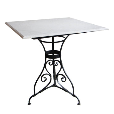 Square Paris Table Marble Top