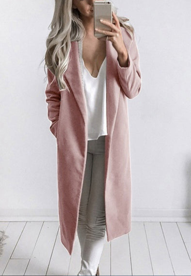 Medium and long wool coat coat