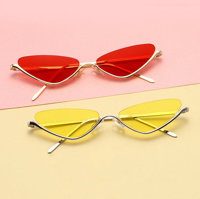 Retro Cat Eye Fashion Metal Candy Color Sunglasses