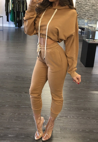 Fashion autumn and winter long-sleeved sweater sexy two-piece suit