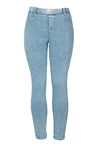 Large size retro denim peach hip pants A