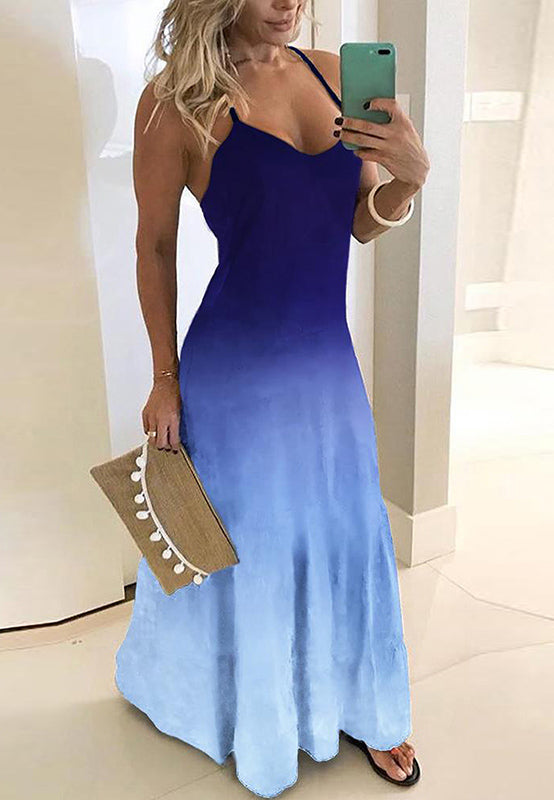 Gradient Women Sleeveless Dress