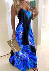 Long Colorful Sleeveless Dress