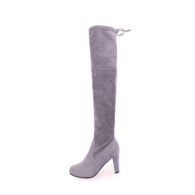 Over The Knee Boots Matte Leather High Heel Boots