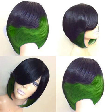 Realistic Natural High Temperature Silk Short Straight Hair Wig Headgear