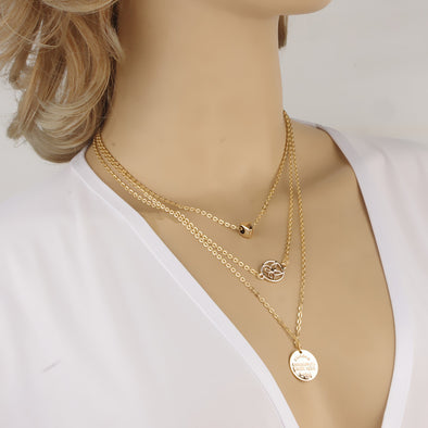 Heart Hollow Combination Necklace