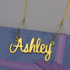 DIY personalized custom stainless steel name clavicle chain