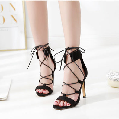 Sexy Strappy Stiletto Sandals Roman Shoes