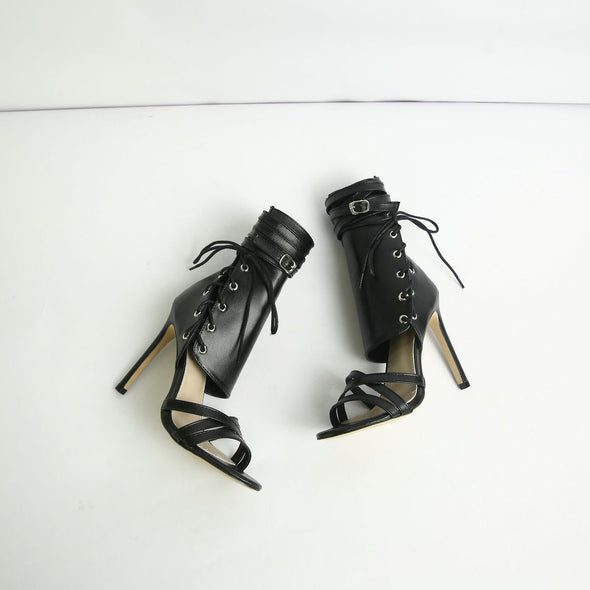 High-Heeled Straps Belt Buckles Cool Boots Roman Fashion Sexy Boots