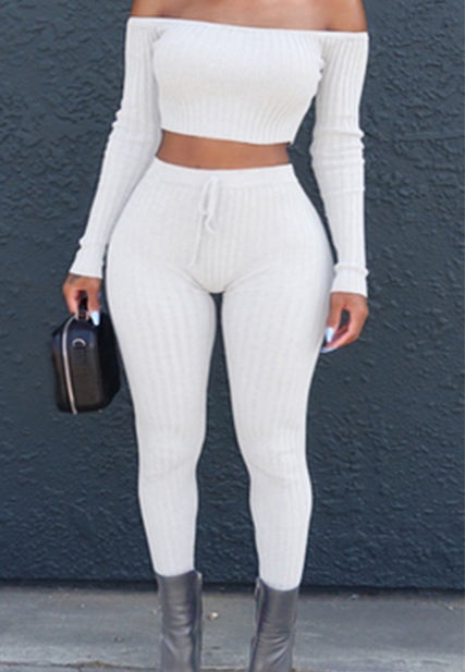 High-elastic Thread Trousers Two-piece Suit Nightclub Clothing