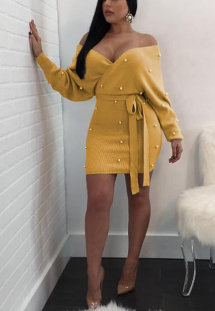 Sexy Long Sleeved Hip Dress