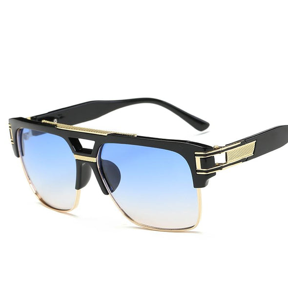 Square Retro Colorful Reflective Personality Sunglasses
