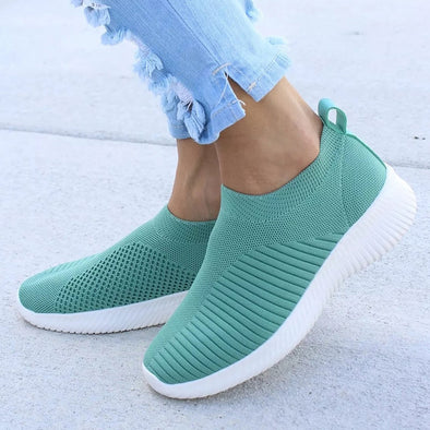 Knitting Sock Sneakers Women Spring Summer Slip On Flat Shoes