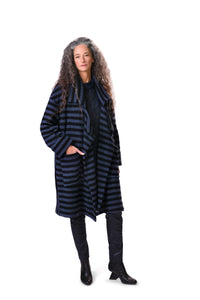 Stripe Baby Bouclé Clutch Coat