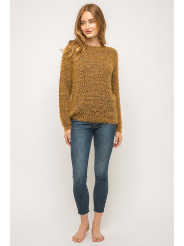 Last one! Fuzzy Mix Color Sweater