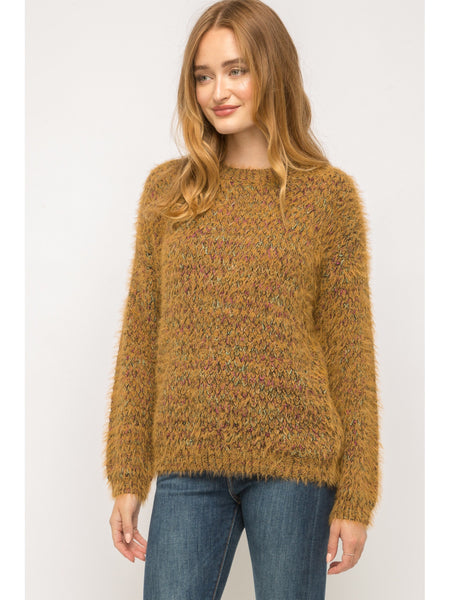 Fuzzy Mix Color Sweater