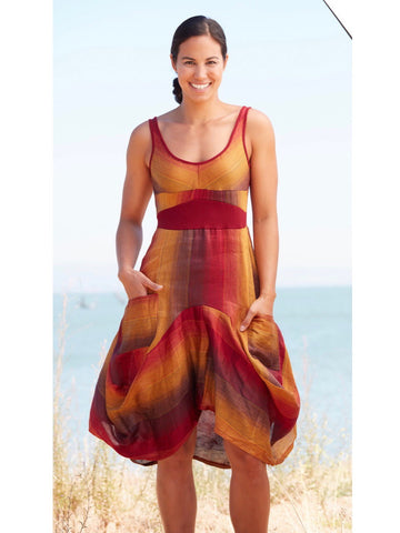 Sunset Ombre Italian Linen Dress