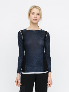 Bamboo Cashmere Color Block Tee