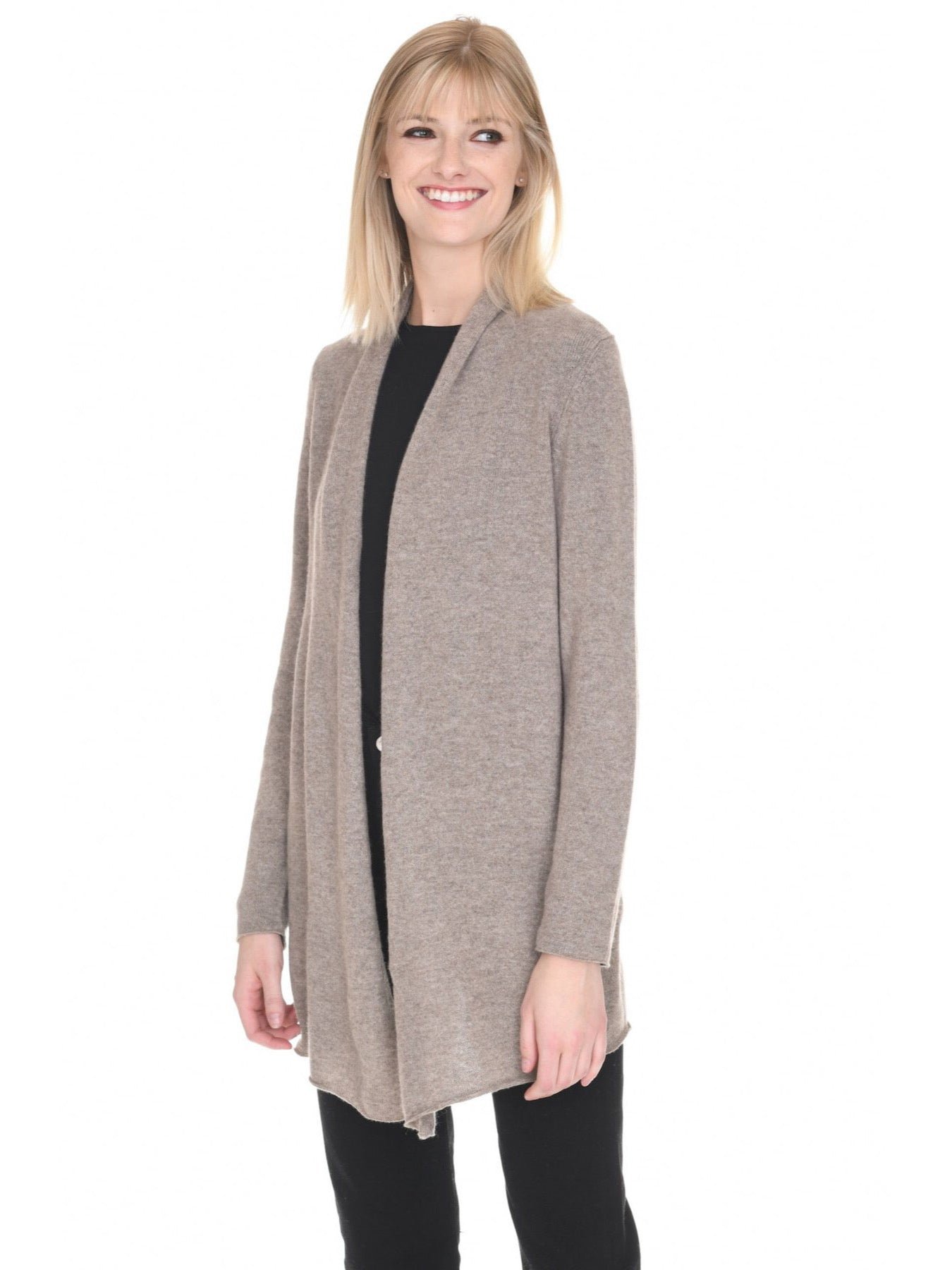 Heather Almond Cashmere Cardigan