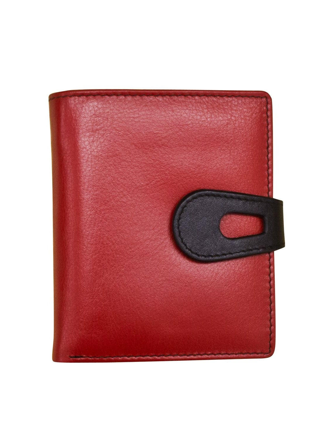 Red and Black Cutout Wallet