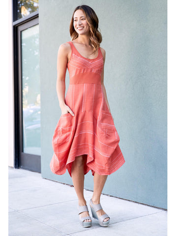 Clementine Stripe Italian Linen Dress