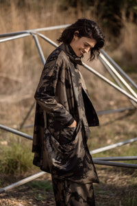 Bronze Asymmetrical Jacket