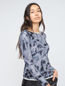Bamboo Cashmere Print Crew