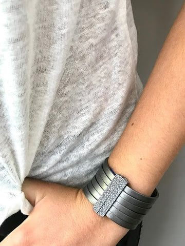 Leather Wrap Magnet Bracelet