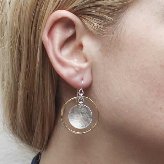 Concave Disc with Ring Earring