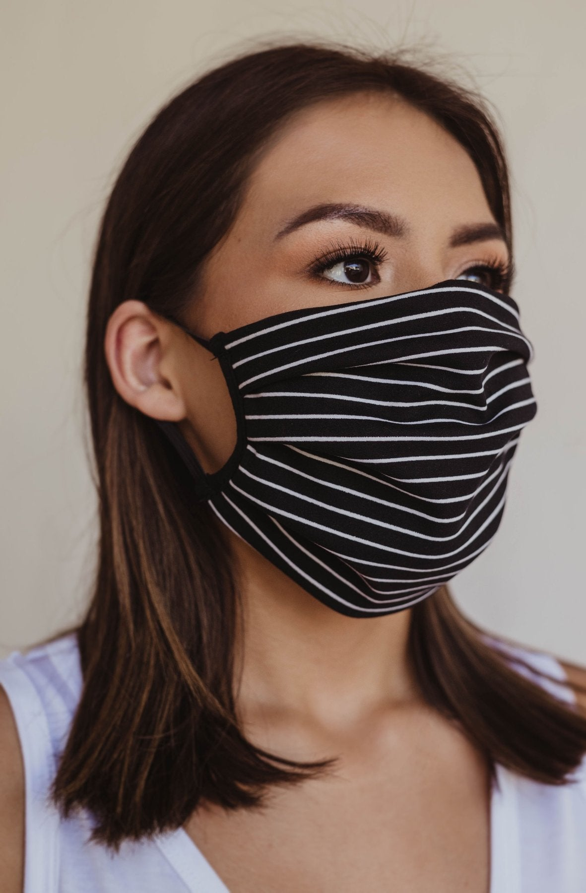 Cotton Stripe Face Mask