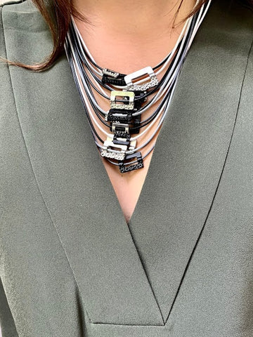 Modern Art French Necklace