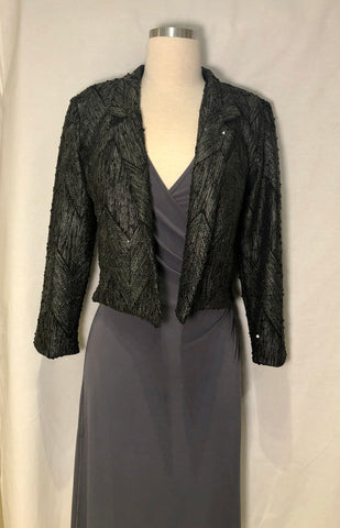 Short Tweed Sequin Jacket