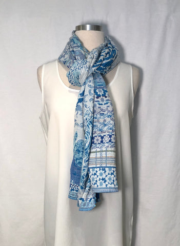 "French Double-Woven Scarf ""Morphée"""