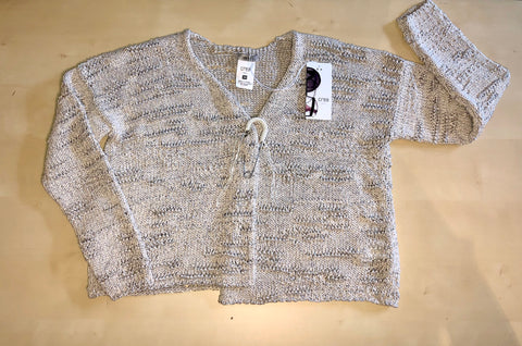 Knit Sweater with Pin