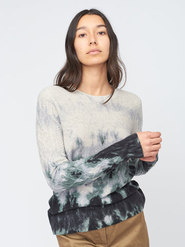 Waterfall Print Pullover